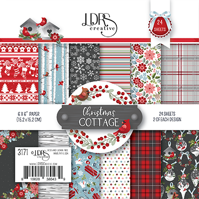 Christmas Cottage paper pad