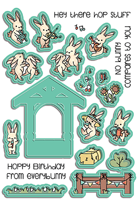 Bunny Band - Pocket Pals Die Set