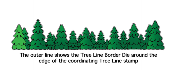 Tree Line Border Die - Wholesale