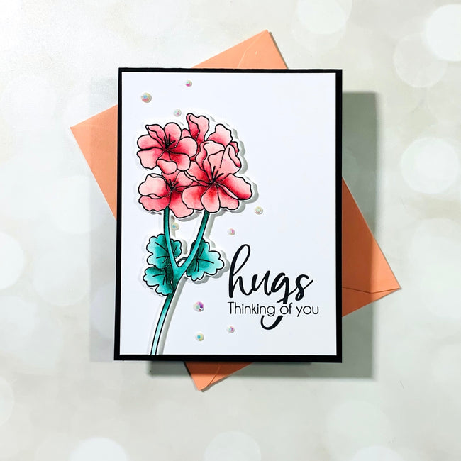Pelargonium 4x6 Stamps