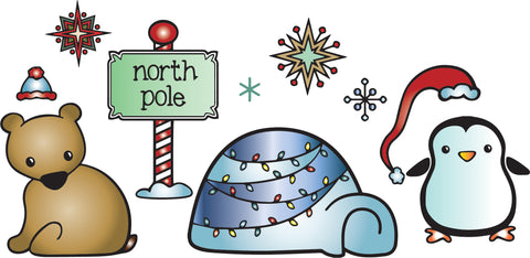 North Pole - Critter Stamps & Dies