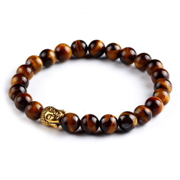 Courage - Tigers Eye Buddha Bracelet - 50% Off