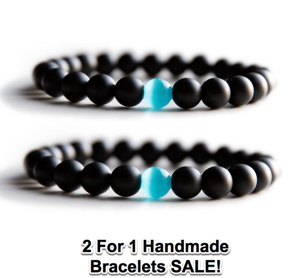 *2 for 1 SALE* Hand Made Life Energy Reiki Healing Bracelet Matte