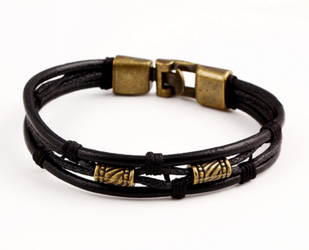 Vintage Genuine Leather Rope Bracelet w/FREE Shipping!