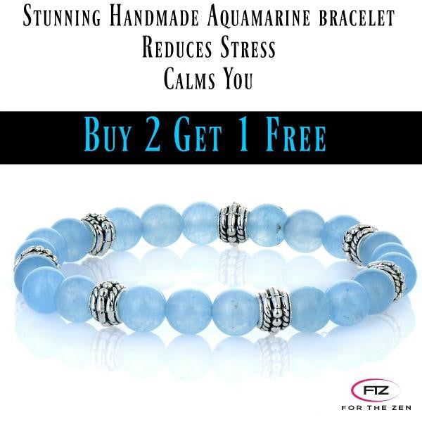 Calm Energy - Aquamarine Handmade Natural Gemstone Bracelet *3 for 2* Special