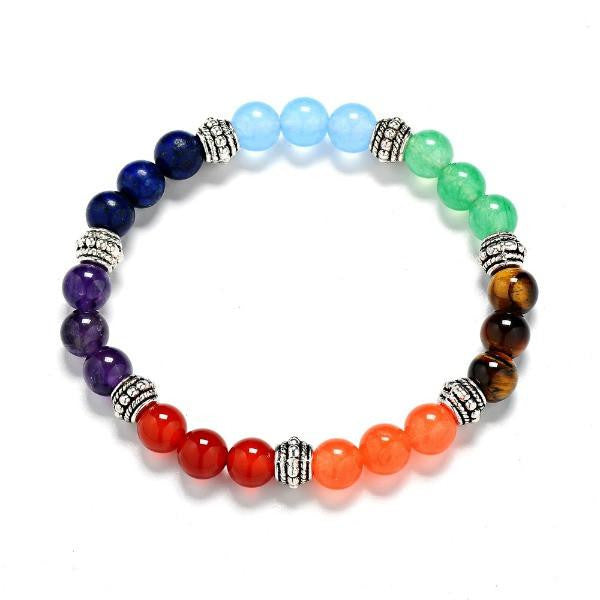 """Energy Flow"" Handmade 7 Chakra Colorful Bracelet"