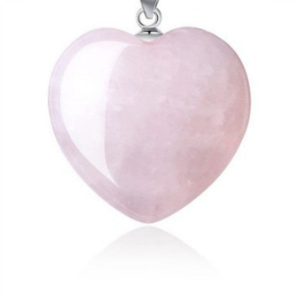 Loving Energy Pink Rose Quartz Heart Pendant