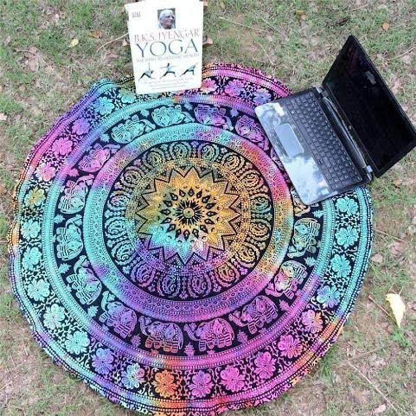 """Soul Brightening"" Mandala Beach Blanket / Mat FLASH SALE!"