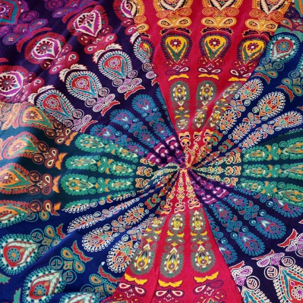 Bohemian Mandala Yoga Beach Blanket or Mat