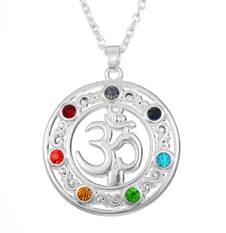 Reiki Yoga OM Chakra Yoga Necklace - with Free Necklace
