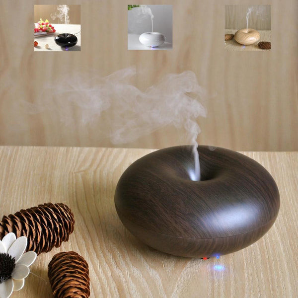 Wood Grain Aromatherapy LED Aroma Humidifier Diffuser