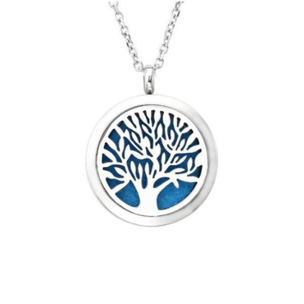 Tree Of Life Aromatherapy Essential Oil Diffuser Necklace And Locket