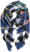 Cozy Feeling Blanket Scarf Royal Blue