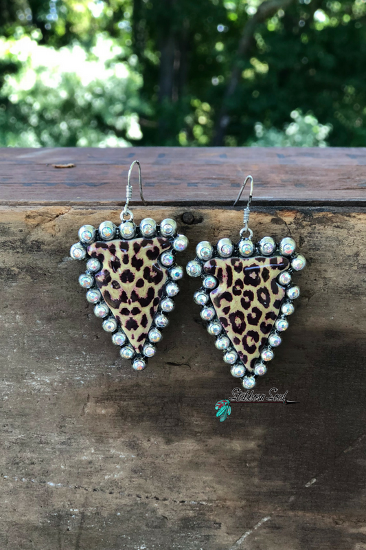 Leopard Arrow Earrings