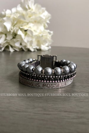Perfection Trio Bracelet - Anything Is Possible (Clearance) Bracelet Stubborn Soul Boutique