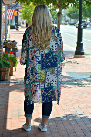 Dreaming and Wishing Paisley Floral Kimono (Clearance) Stubborn Soul Boutique