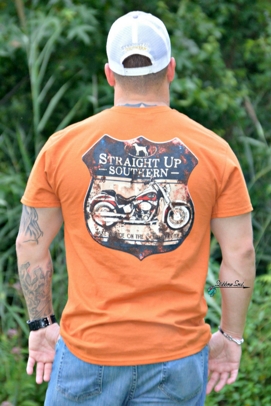 Straight Up Southern Motorcycle Sign Tee - Stubborn Soul