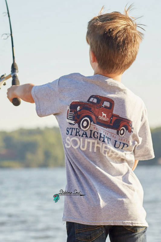 Straight Up Southern Classic Truck Youth T-Shirt (Clearance) Kids Top Stubborn Soul Boutique