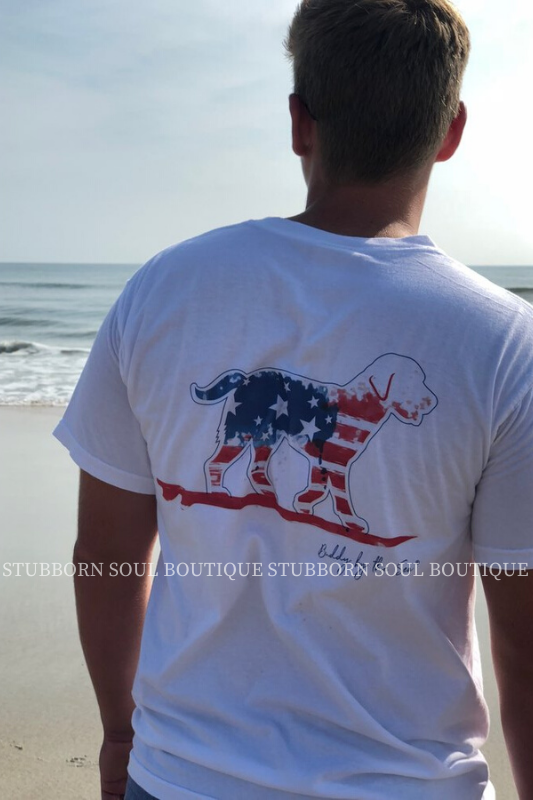 White Flag Buddy By The Sea Logo Tee (Clearance) Graphic Stubborn Soul Boutique
