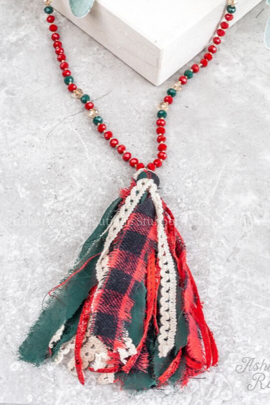 Coziest Christmas Tassel Necklace