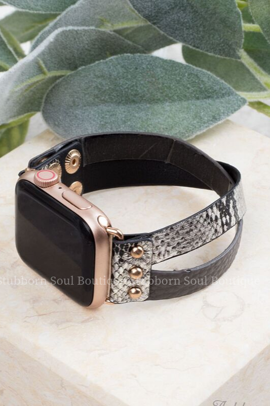 Don't Cross Me Smart Watch Band in Silver Snake