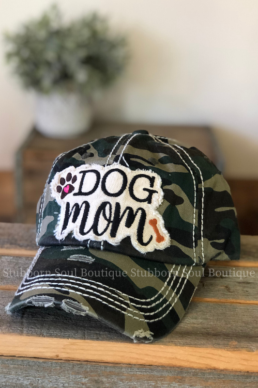 Dog Mom Camo Baseball Hat