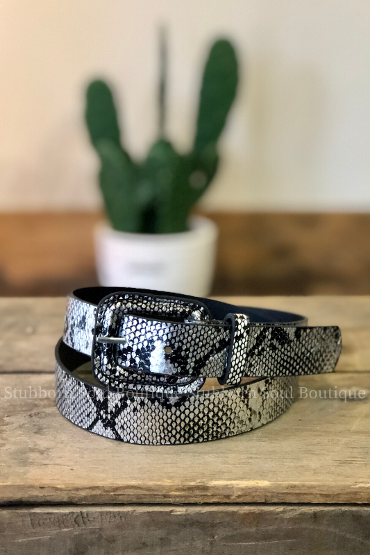 Snake Print Belt (Clearance) Ladies Belts Stubborn Soul Boutique