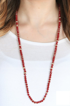 Rae's Maroon Beaded Necklace (Clearance)