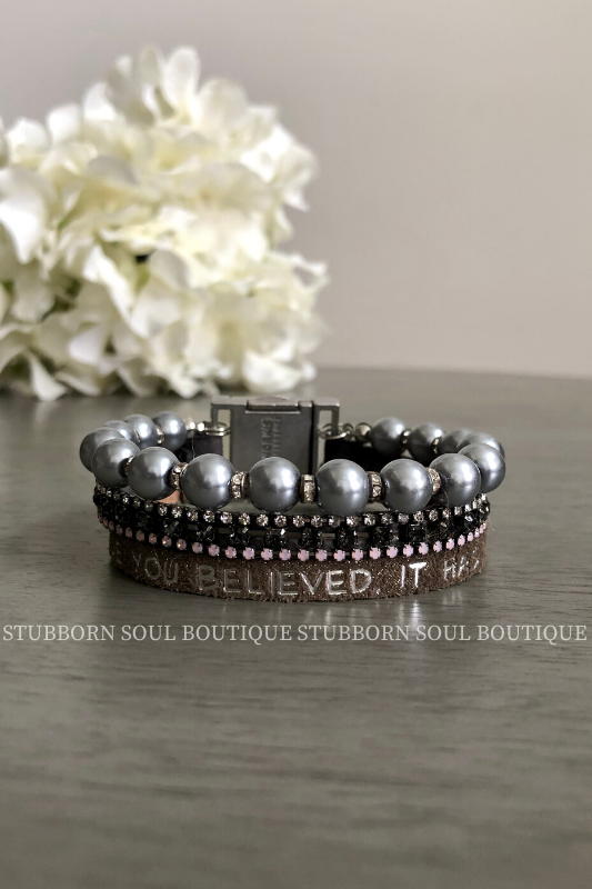 Perfection Trio Bracelet - You Believed (Clearance) Bracelet Stubborn Soul Boutique