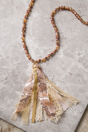 Dreaming of You Rose Gold Tassel Necklace Stubborn Soul Boutique