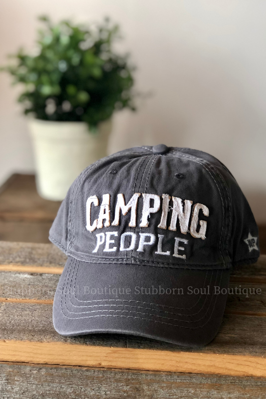 Camping People Dark Gray Hat Stubborn Soul Boutique
