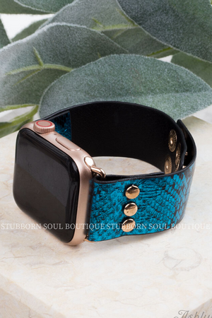 Snake Rattle & Roll in Blue (Clearance) Watch Band Stubborn Soul Boutique