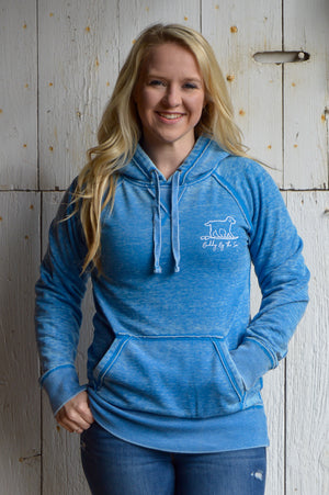 Cool Blue Buddy By The Sea Hoodie
