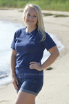 Navy Classic Distressed Buddy By The Sea Logo Tee Stubborn Soul Boutique