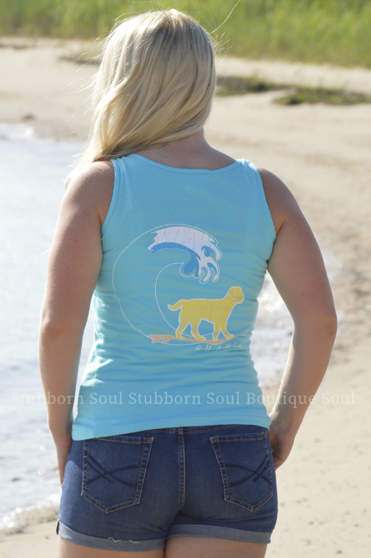 Lagoon Blue Classic Buddy By The Sea Logo Tank Stubborn Soul Boutique