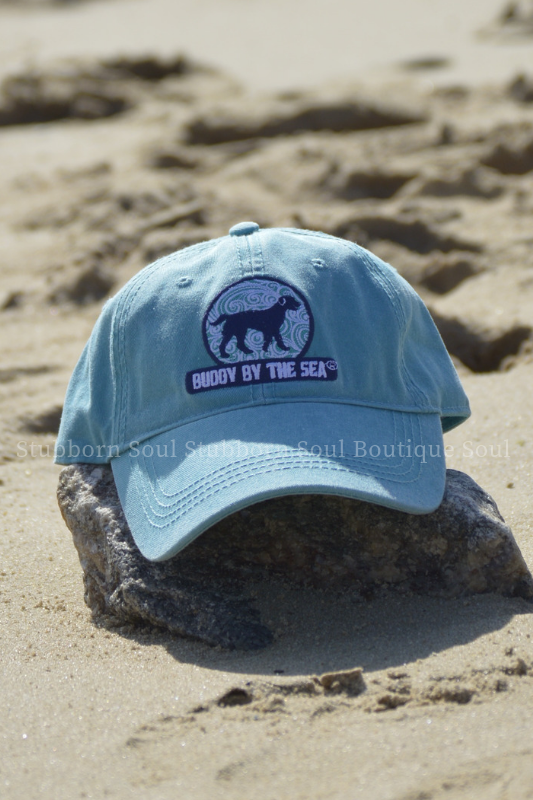 Buddy By The Sea Aqua Blue High Tide Hat Stubborn Soul Boutique