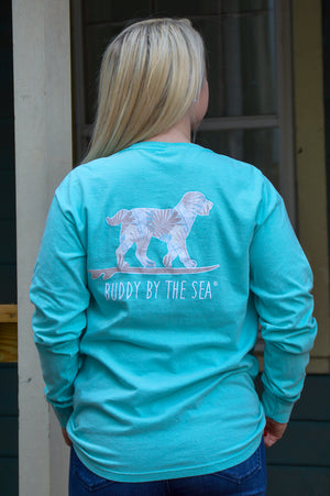 Good Tides Long Sleeve Buddy By The Sea Tee