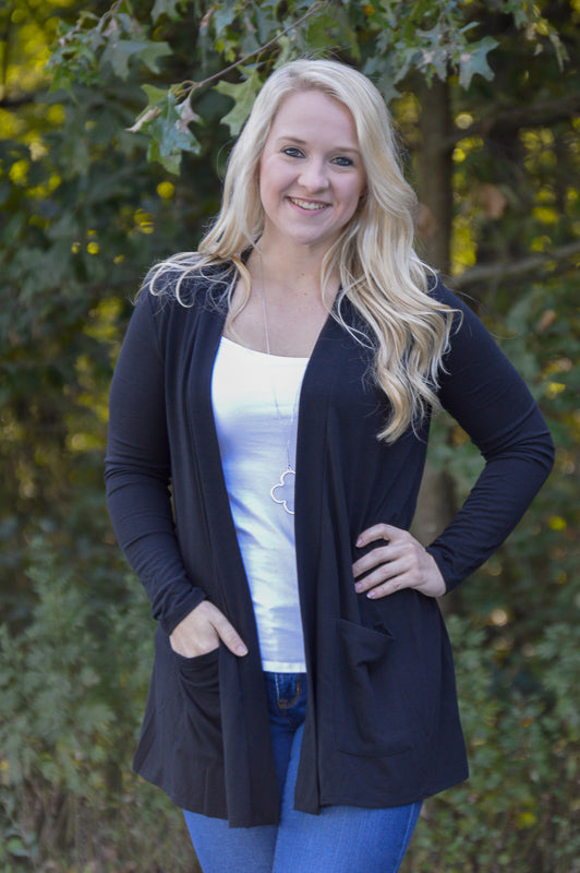 Sadie Black Cardigan