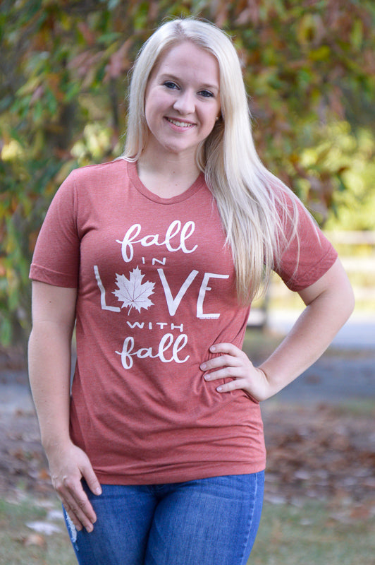 Fall in Love with Fall Tee (Clearance) Graphic Tee Stubborn Soul Boutique