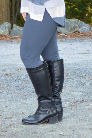 Rebecca Solid Leggings in Charcoal