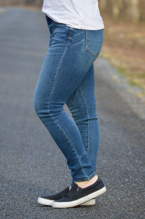 Judy Blue Arlington Ankle Skinny Jeans Skinny Jeans Stubborn Soul Boutique