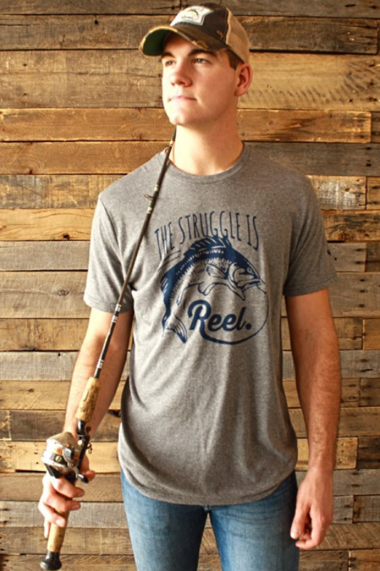 The Struggle is Reel Vintage Steel Tee Graphic Stubborn Soul Boutique