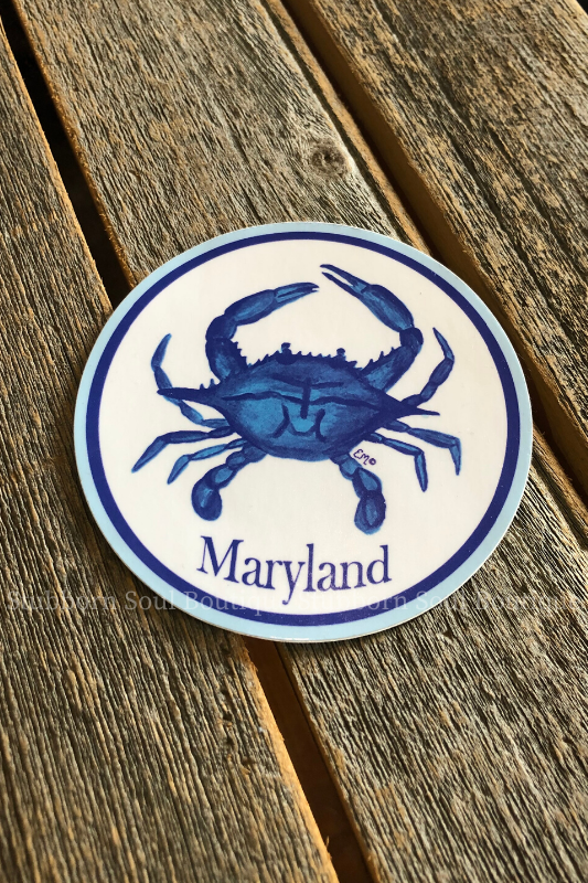 Maryland Blue Crab Sticker Stubborn Soul Boutique