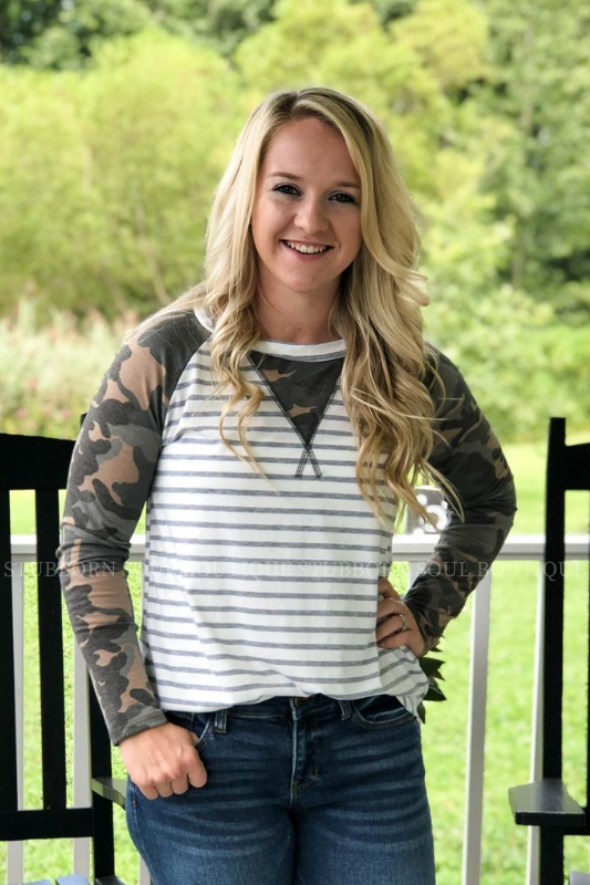 Camo Top Stubborn Soul Boutique