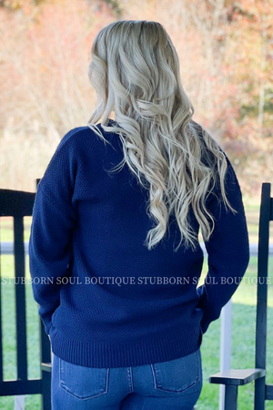 Willow Sweater in Navy