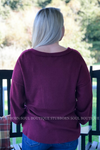 Gianna Burgundy Top