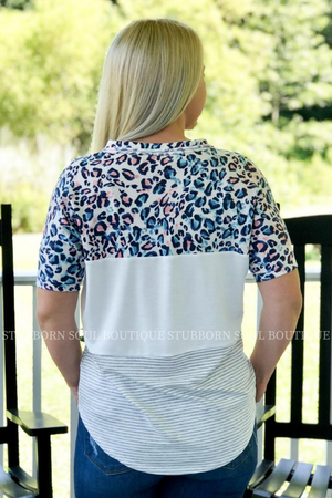Stubborn Soul Boutique Color Block Top
