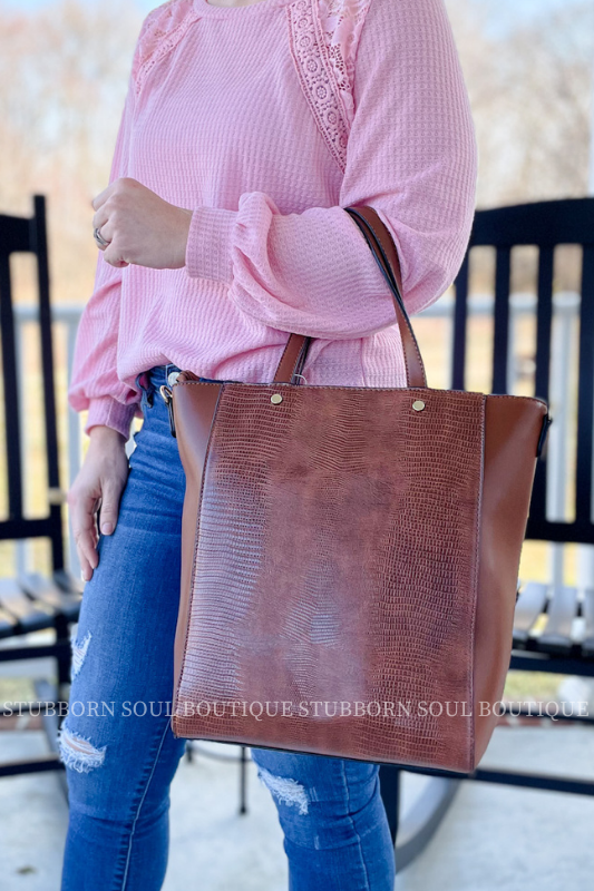 Brown Tote Handbag