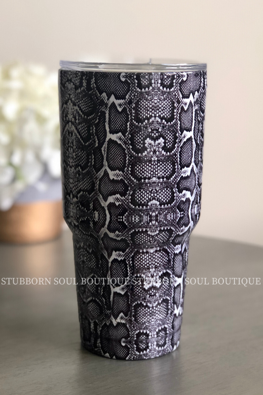 Black Snake Tumbler (Clearance) Drinkware Stubborn Soul Boutique