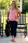 Julia Tee in Blush Ladies Top Stubborn Soul Boutique